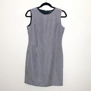 Brooks Brothers NWOT Black White Sleeveless Dress